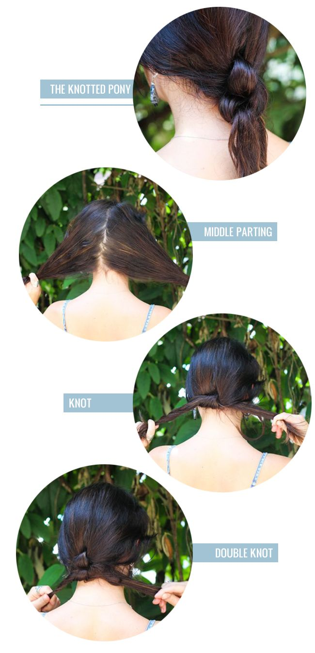 easy ponytail alternatives for moms knotted ponytail ponytail