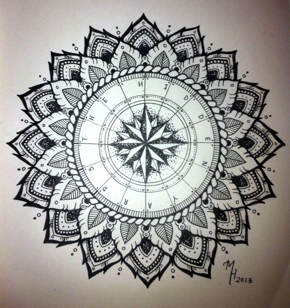 Mandala Tattoo Design On Pinterest: Mandala Compass On Pinterest