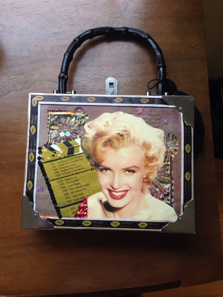 cf1bcdcc85 Vintage Marilyn Monroe Cigar Box Purse Bag  Handmade  Satchel ...