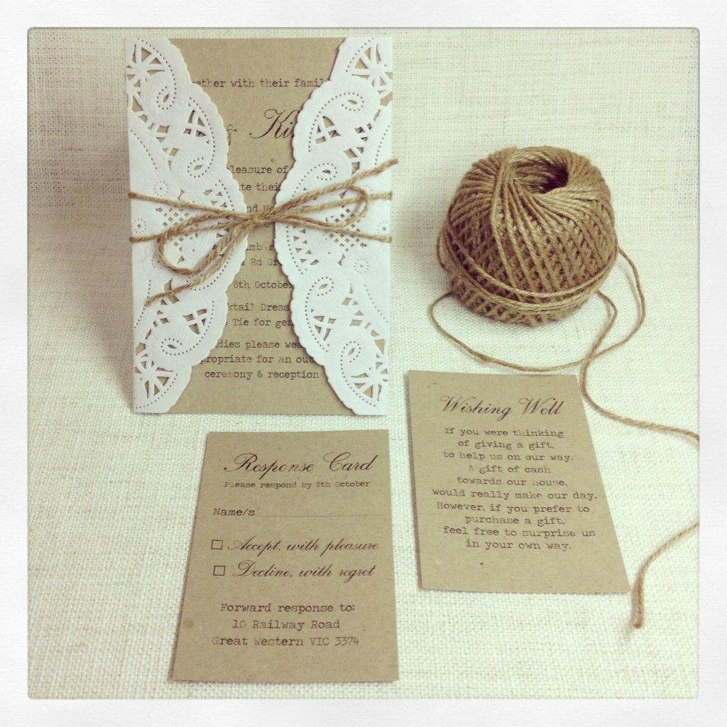 Rustic Wedding Invitations Chic Invitation1