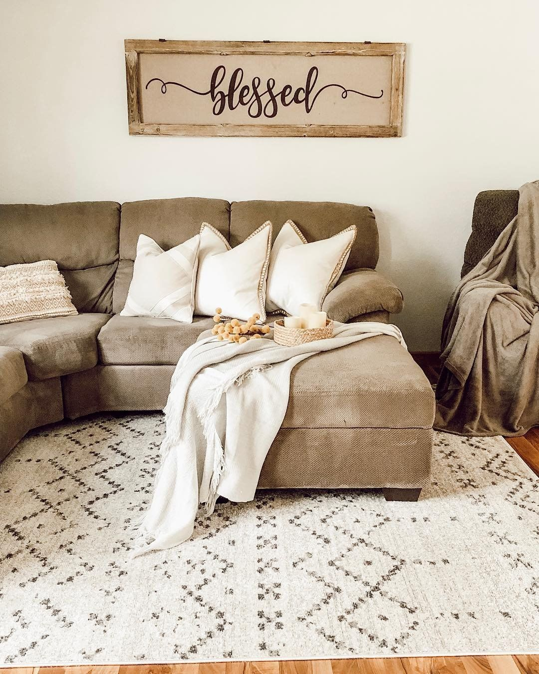 Simple But Meaningful Wall Decor Brings Together Any Living Room Tap To Shop Welcomehom Condo Living Room Decor Condo Living Room Swing Chair Bedroom