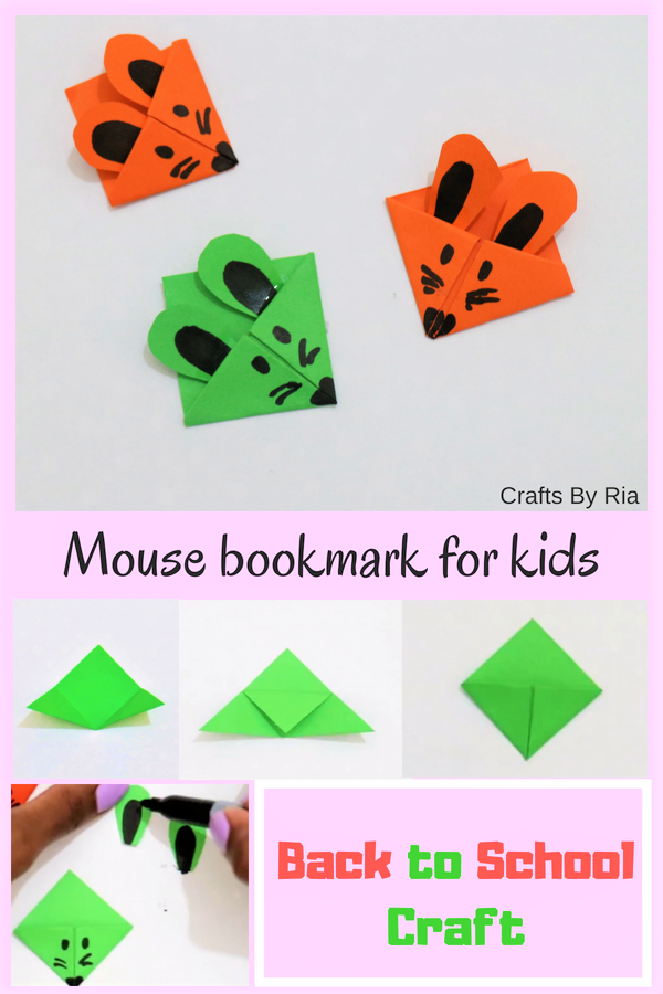 Learn How To Make A Mouse Paper Bookmark This Corner Is Perfect Back