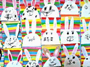 Tvoříme s dětmi  ☺: Velikonoční zajíčci