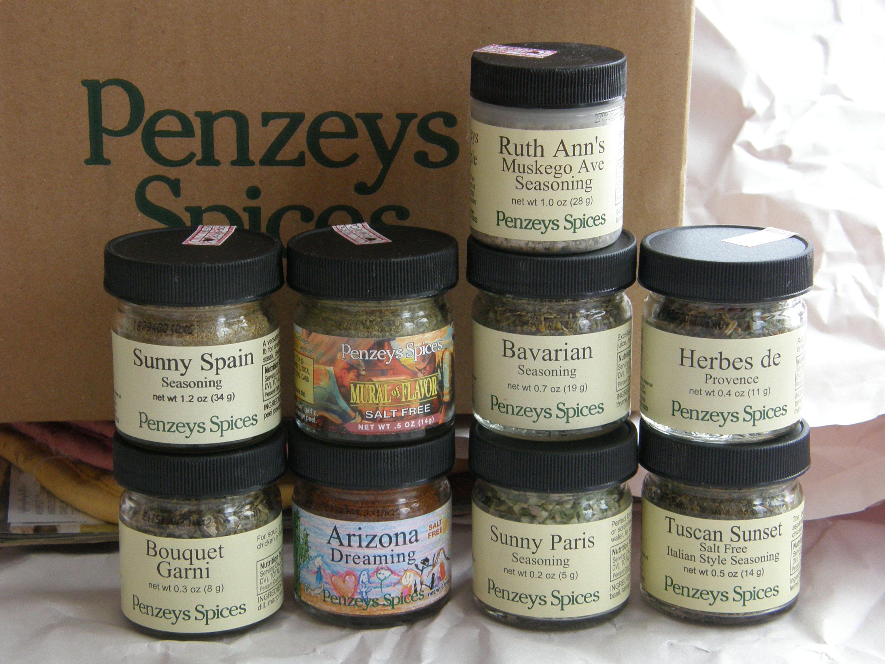 $32 worth of salt-free Penzey's herbs (free shipping): 9