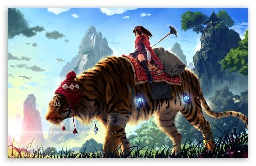 Tiger Ride Painting Wallpaper Hd Anime Wallpapers Tiger Wallpaper Anime Wallpaper