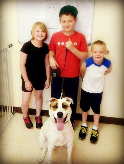 Happy faces at the Humane Society of Midland County - they just found their new best friend!    #Happy