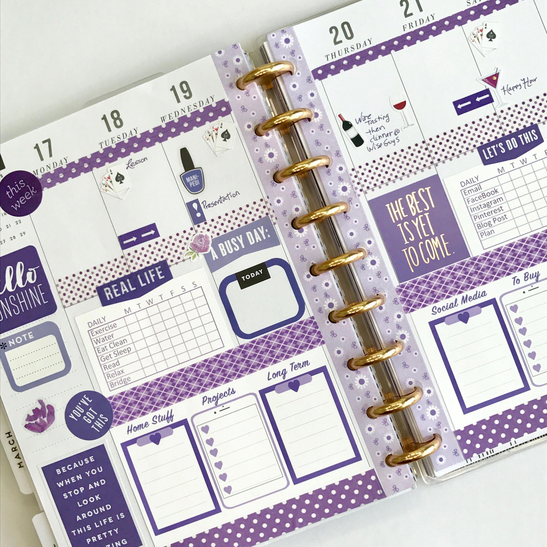 Planner Stickers Template #travelersnotebook #PlannerStickers