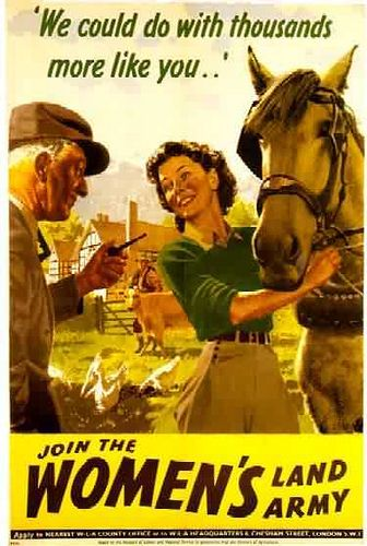 Wartime Womens Land Army Poster A3 Reprint