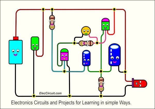 Many Electronic projects circuits in simple ways of learning #coolelectronics