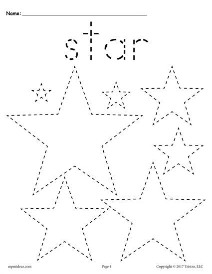 Free Preschool Tracing Shapes Worksheets Includes A Star Tracing