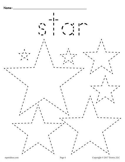 12 FREE Shapes Tracing Worksheets! | Tracing shapes, Shapes ...