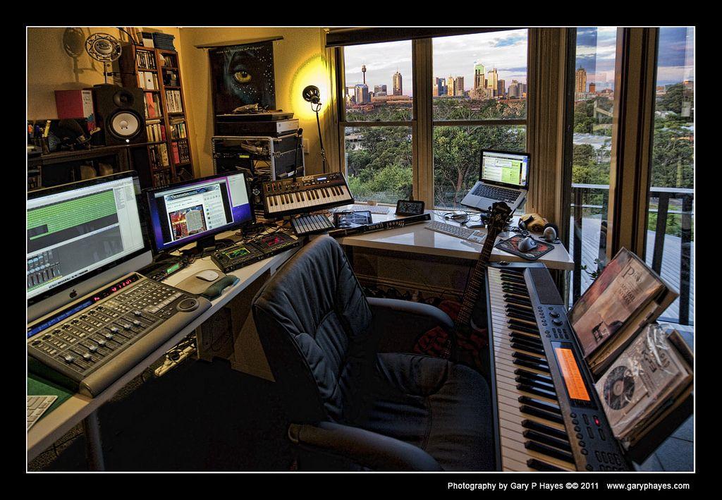 Home Studio With A View Home Studio Setup Recording Studio Design Home Studio Music