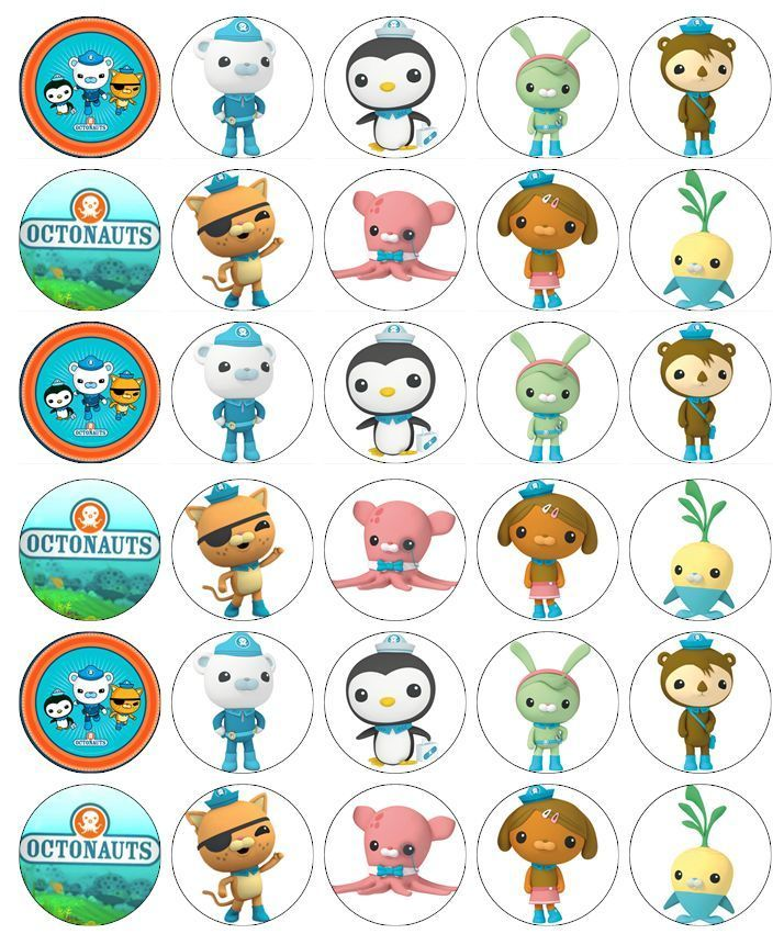Octonauts Cupcake Toppers Edible Wafer Paper Buy 2 Get 3Rd Free!