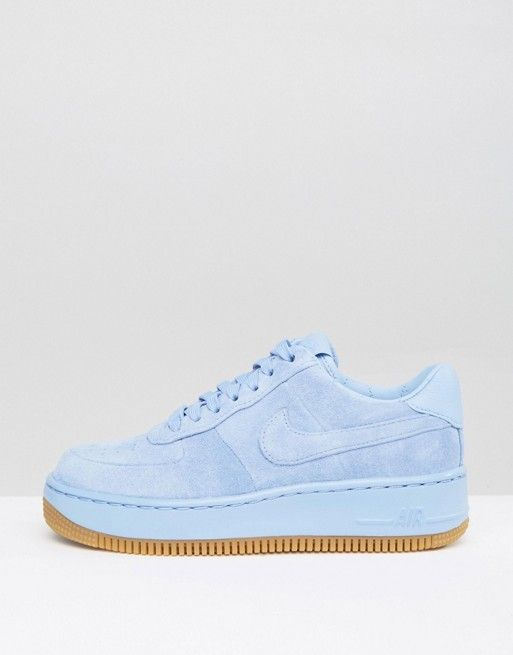 7093b732f2c23 Zapatillas de deporte de ante azul Air Force 1 Upstep Premium de Nike