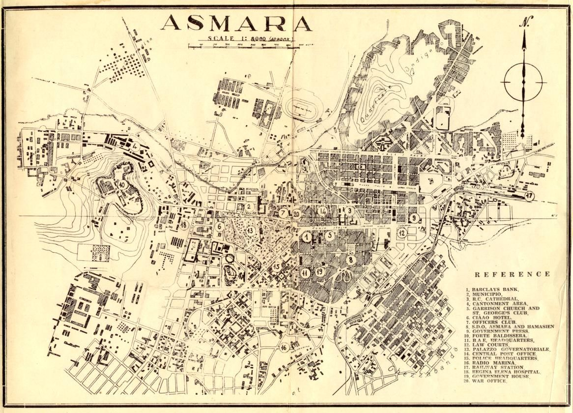 Asmara Station | Asmara, Old maps, Map