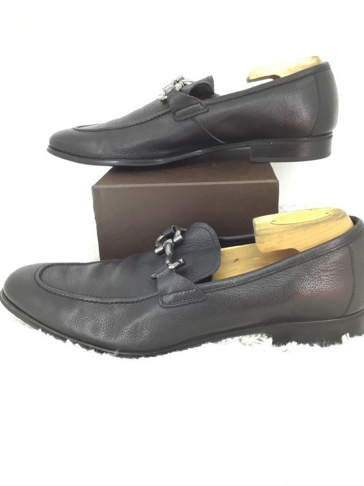 Salvatore Ferragamo Mens Leather Loafer: Size 9 EE: Black