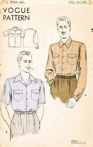 1940 men sportshirt - Google-Suche