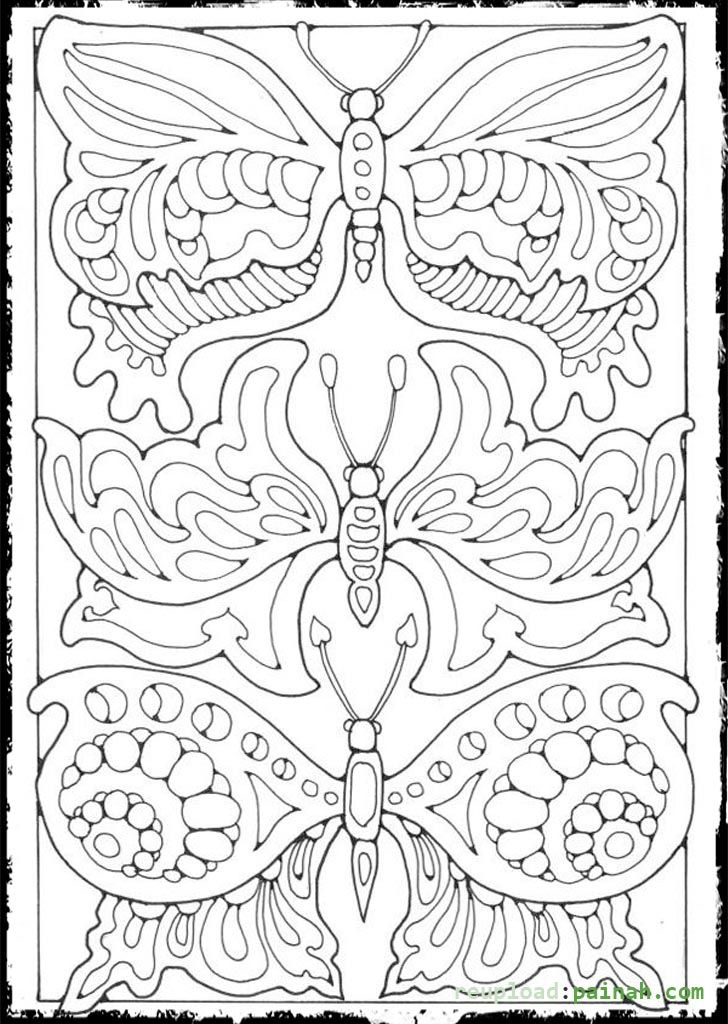 Advanced Butterfly Coloring Pages : Advanced coloring pages for adults butterfly colouring