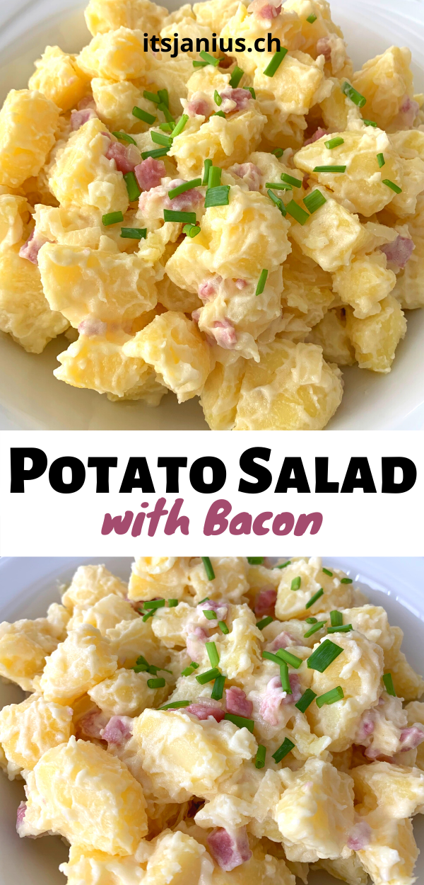 Potato Salad With Bacon Itsjanius Recipes Recipe Bacon Potato Salad Salad Recipes Bacon Salad