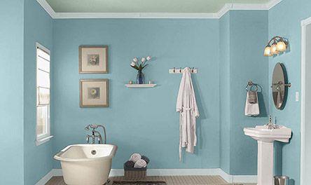 Valspar Sea Salt Blue Amp Sea Spray Bathroom Wall Colors