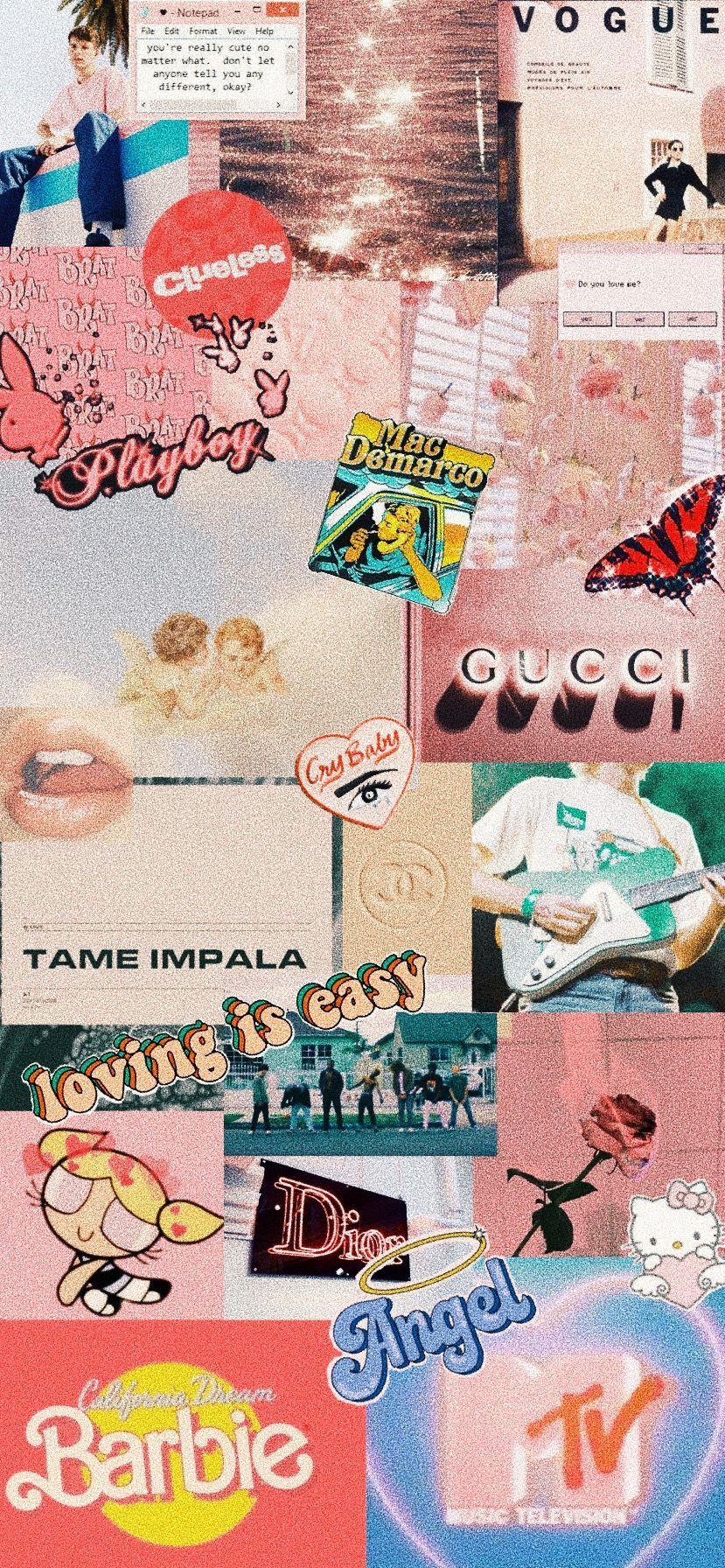 retro vintage aesthetic collage wallpaper iphone x xr xs Iphone 10 11 pink y2k 90s rex orange … in 2020   Pink wallpaper iphone, Aesthetic iphone wallpaper, Kitty wallpaper