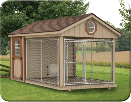 Front View Of 8 X 12 Dura Temp Dog Kennel Looks So Spacious Nice