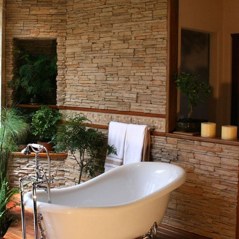 Revestimiento simil piedra nat ecostone andes crema oxidada 13 58 en mercadolibre ideas - Revestimiento paredes interiores pizarra ...