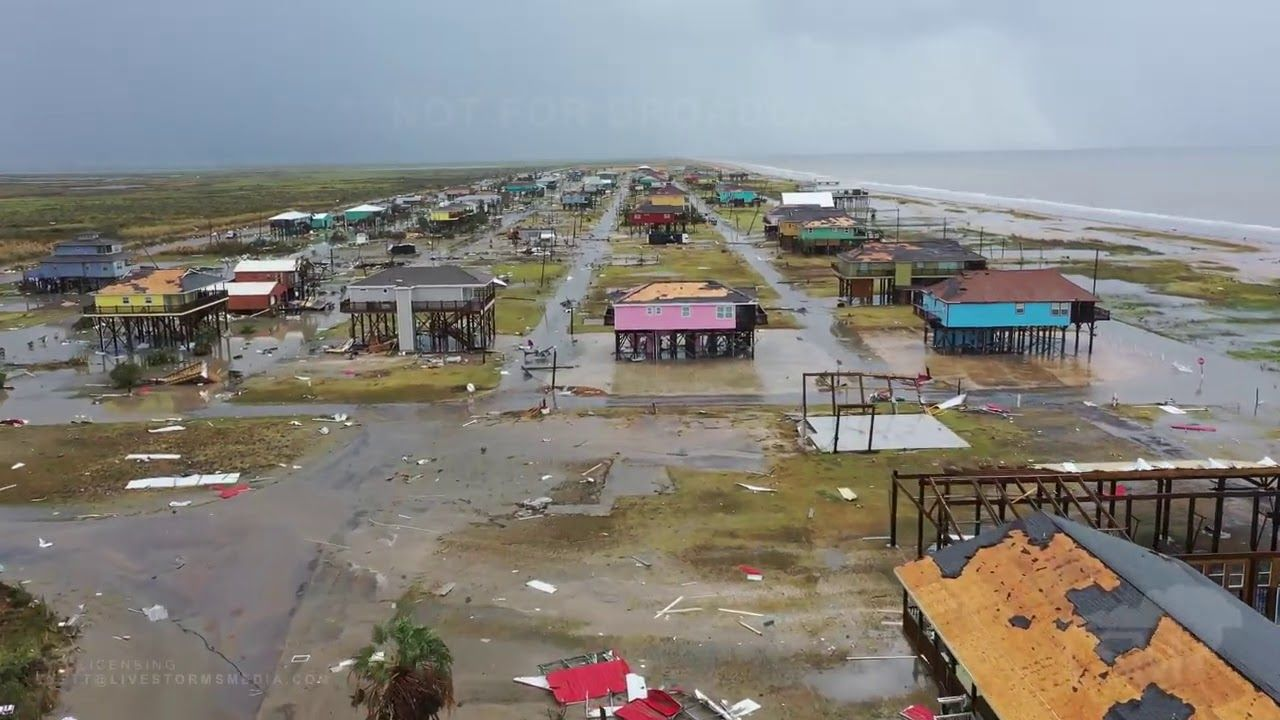 8 28 2020 Holly Beach La Drone Video Shows Destruction Hurricane Laura Youtube In 2020 Destruction Drone Video Hurricane