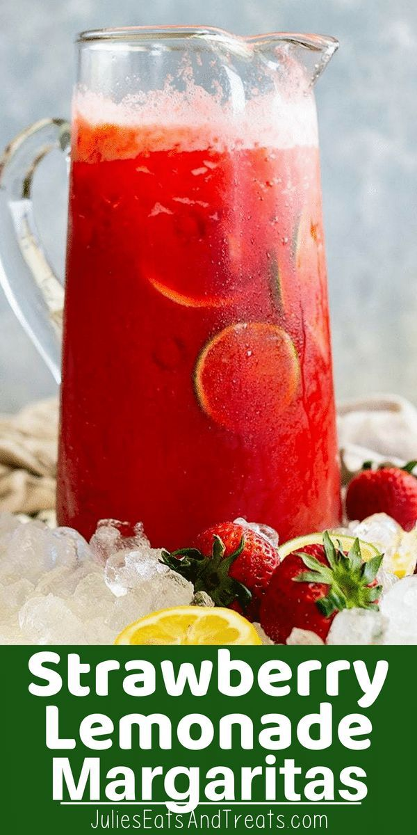 Strawberry Lemonade Margarita is a crowd pleasing drink!
