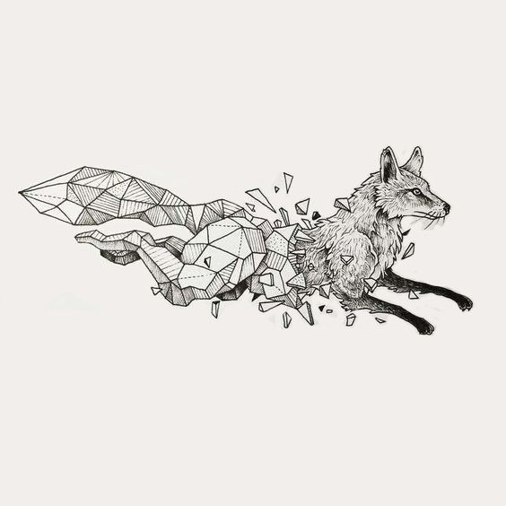 Fox By Kerby Rosanes Fox Tattoo Geometric Geometric Drawing Geometric Animals