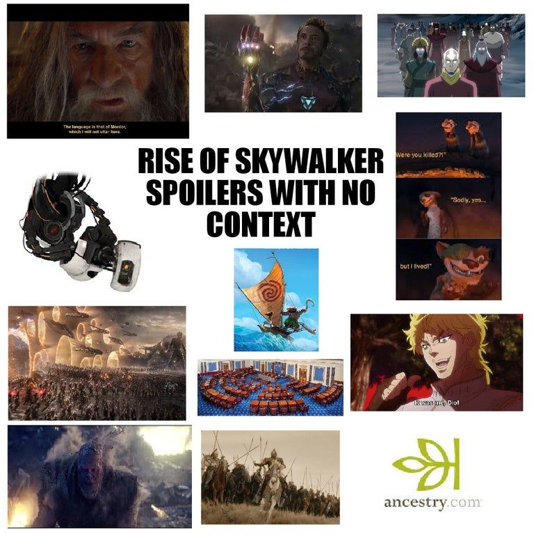 Rise Of Skywalker Spoilers With No Context Sequelmemes Star Wars Humor Star Wars Memes Star Wars Ships
