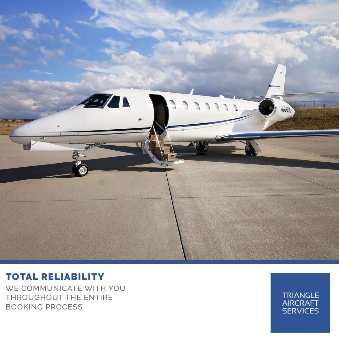 Delivering personalised service, Triangle Aircraft