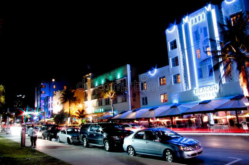 Miami South Beach Night South Beach Miami By Night Iconic View