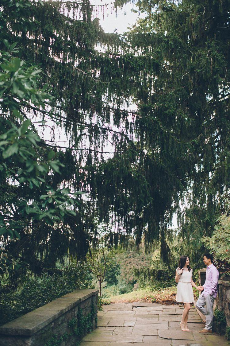 NJ Botanical Gardens engagement session in Ringwood, NJ - captured by NJ wedding photographer Ben Lau.