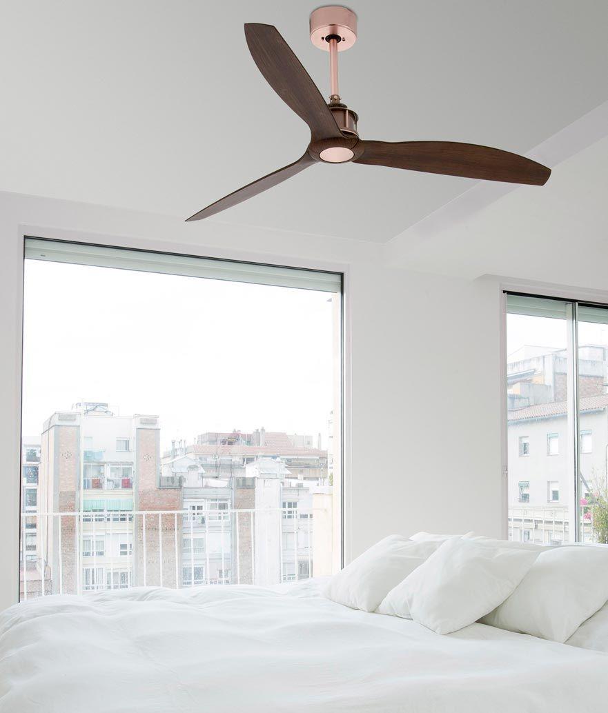 Ventilador apto techos inclinados blanco LUZON ⋆ La Casa de
