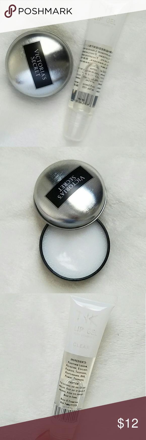 clear gloss bundle Victoria's Secret lip balm pot clear gloss Victoria's Secret Makeup Lip Balm & Gloss