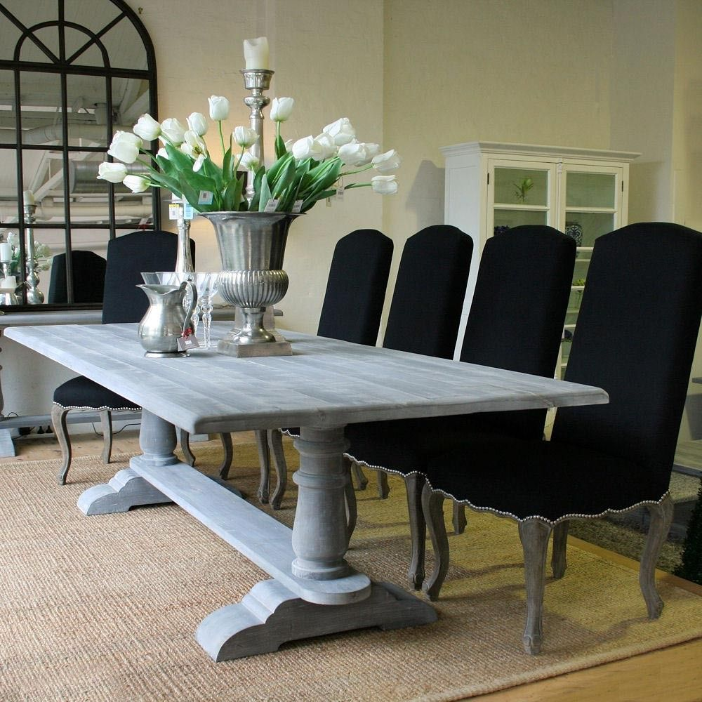 Louis Xv Avignon Refectory Dining Table Cloudy Grey
