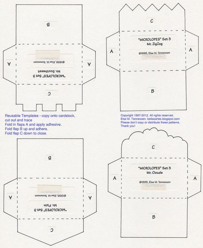 Free Mini Envelope Template For You Mini Envelopes Template