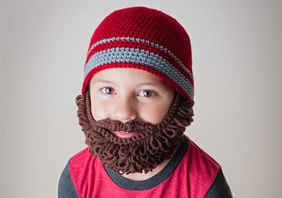 Crochet Beard Beanie Pattern. Easy Instructions for Cool Disguise. Curly and Straight Bearded Hat Co #crochetedbeards