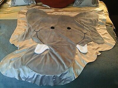 Details about Rumble the Happy Elephant Gray Happy Blankie Baby Security Blanket (Large) HTF #securityblankets