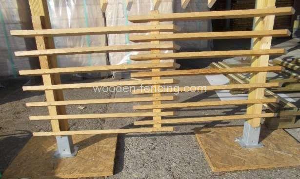 imprägnier Angebot Holz Zaunelemente Zaun Ohne Holzringe