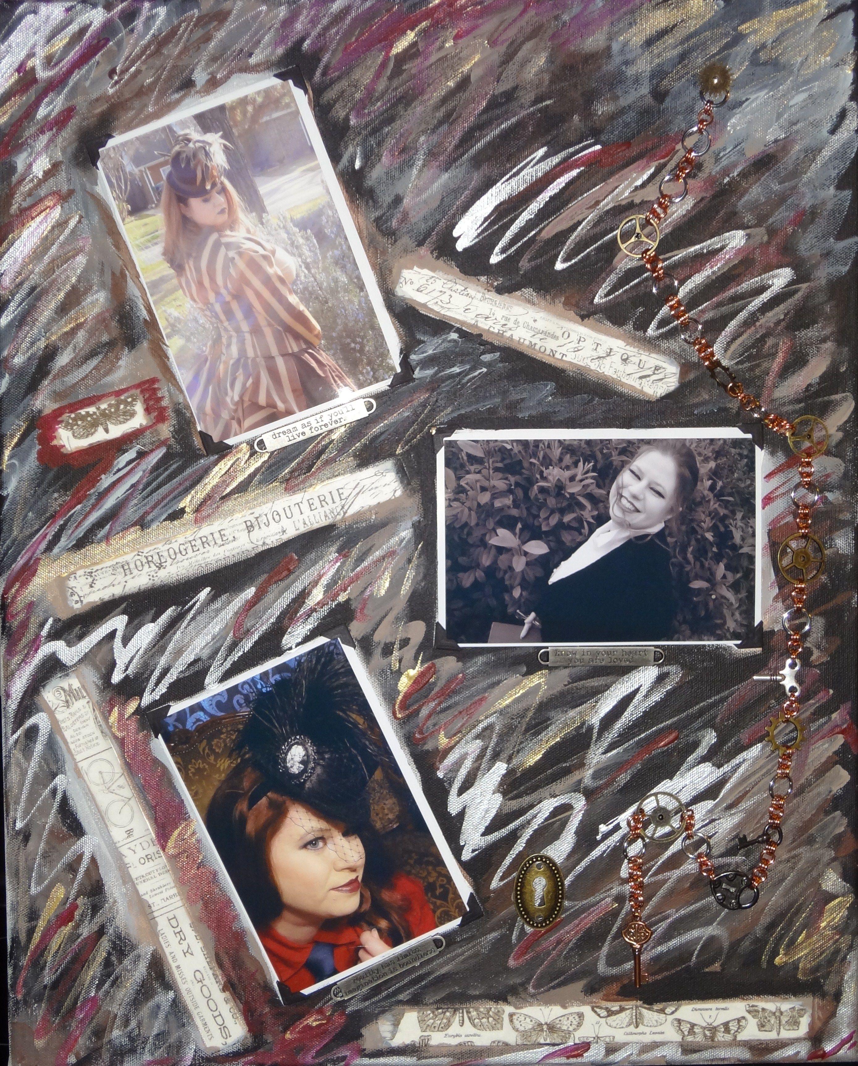 My latest mixed media / #steampunk #art piece
