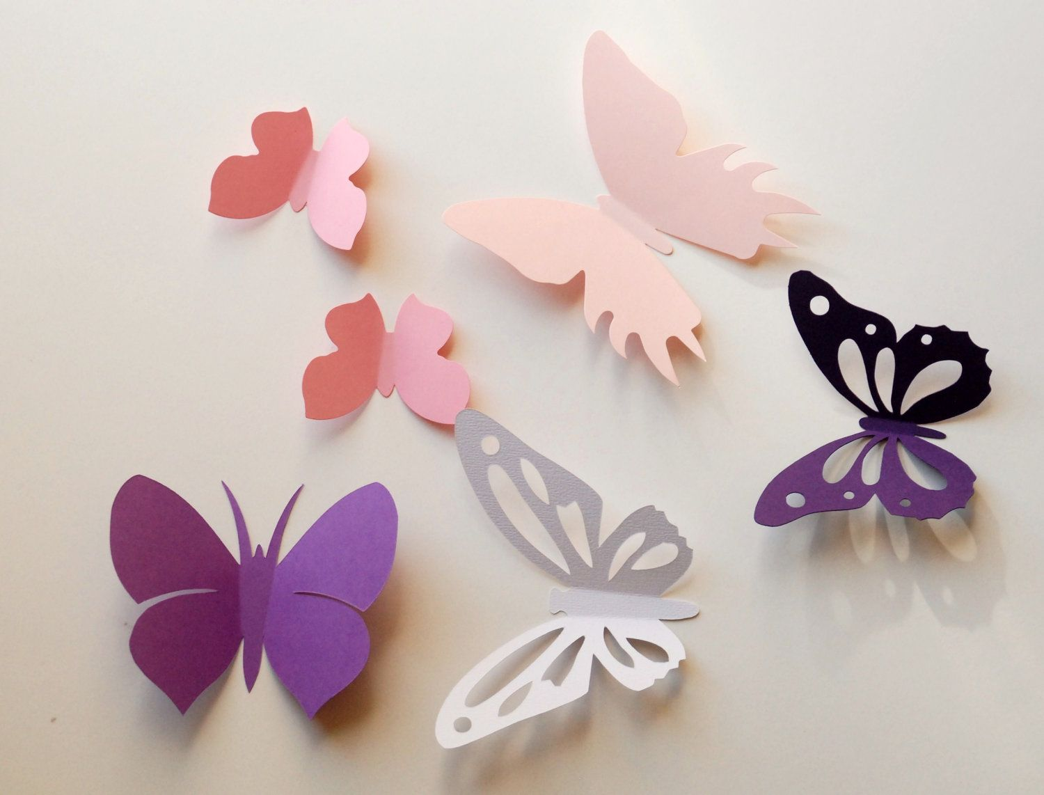 wall decals white | 3d paper butterfly wall sticker, room