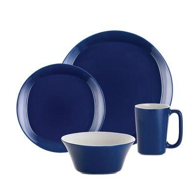 Rachael Ray Dinnerware Round and Square 16 Piece Dinnerware Set in ...