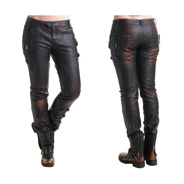 dc83f395c3 Steampunk Faux Leather Pants | Crazyinlove International | style in ...