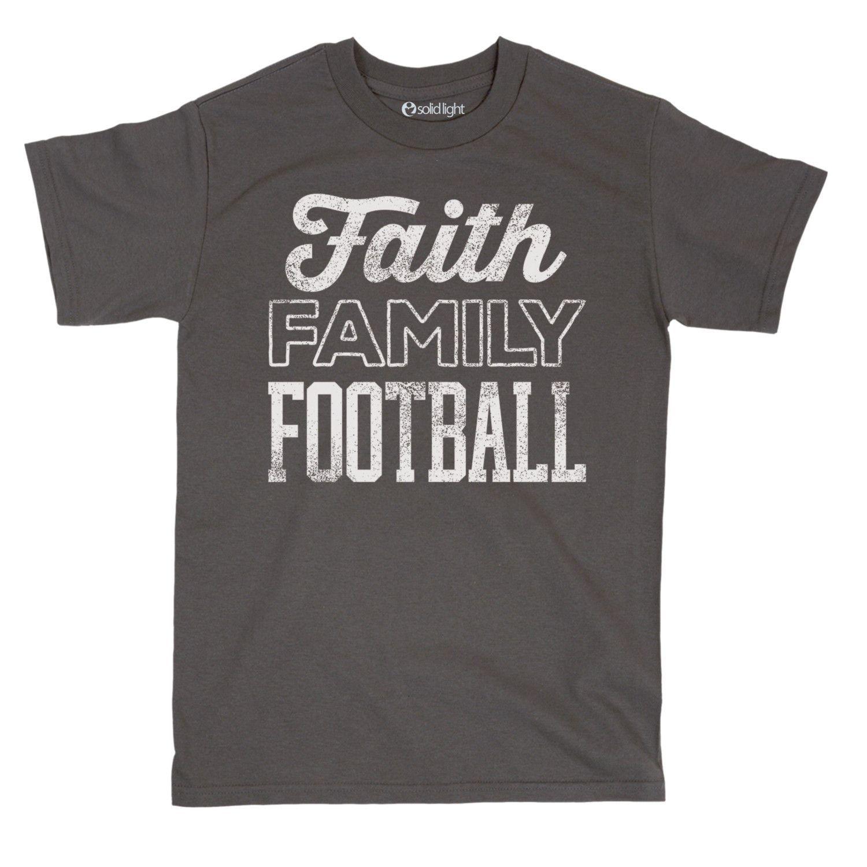 4b882ad808667 Faith Family Football Tee. Fútbol AmericanoPlayerasEspíritu ...