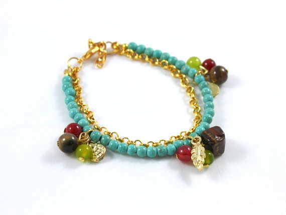 turquoise beaded bracelet mothers day gift idea ready to ship via etsy