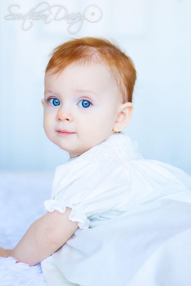 Pin By Autumn Longmire On Amelia Redhead Baby Baby Girl Blue Eyes Blue Eyed Baby