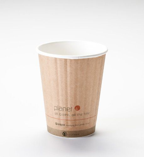 Dining Kitchen Oz Okinawa: 12 Oz. Biodegradable Hot Drink Cup PLA Lined Built-in Heat