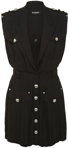 3188c10e4c8b BALMAIN Military Dress - Lyst | Fashion it is...... | Military ...